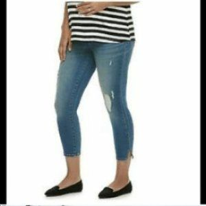 A:Glow Distressed Crop Jegging Full Panel